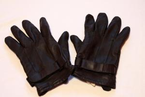 Pair of leather gloves